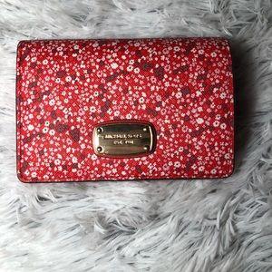 Michael Kors Red ❤️ Floral wallet